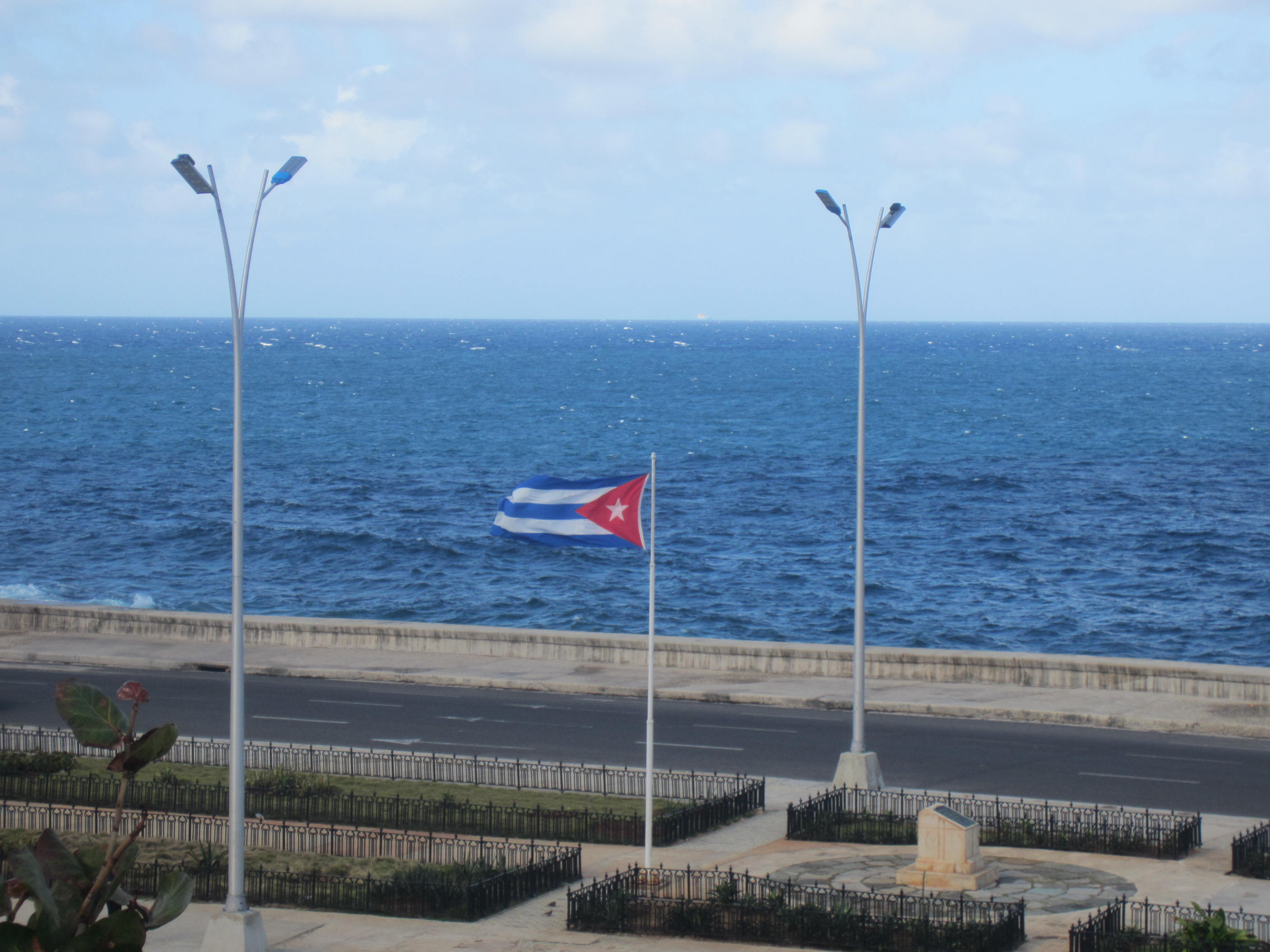 Flag over malecon